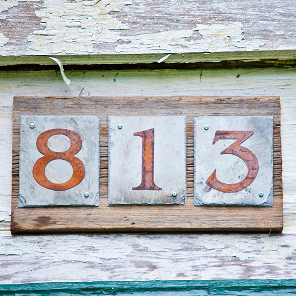 house number slate accents